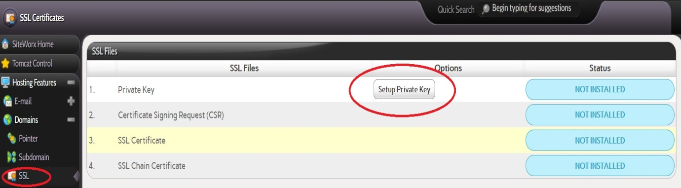 How To Setup Ssl For Your Domain On Siteworx Knowledgebase Javapipe
